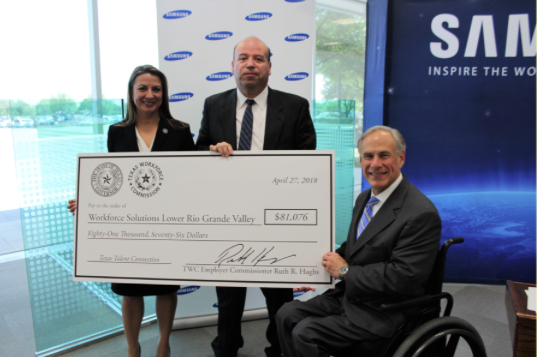 PRESS RELEASE: Workforce Solutions Awarded $81,076 Texas Talent Connection Grant